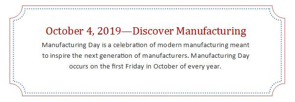 2019 Manufacturing Day Annoucement