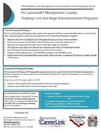 PA CL one sheet Training Programs Rev 7.25.19