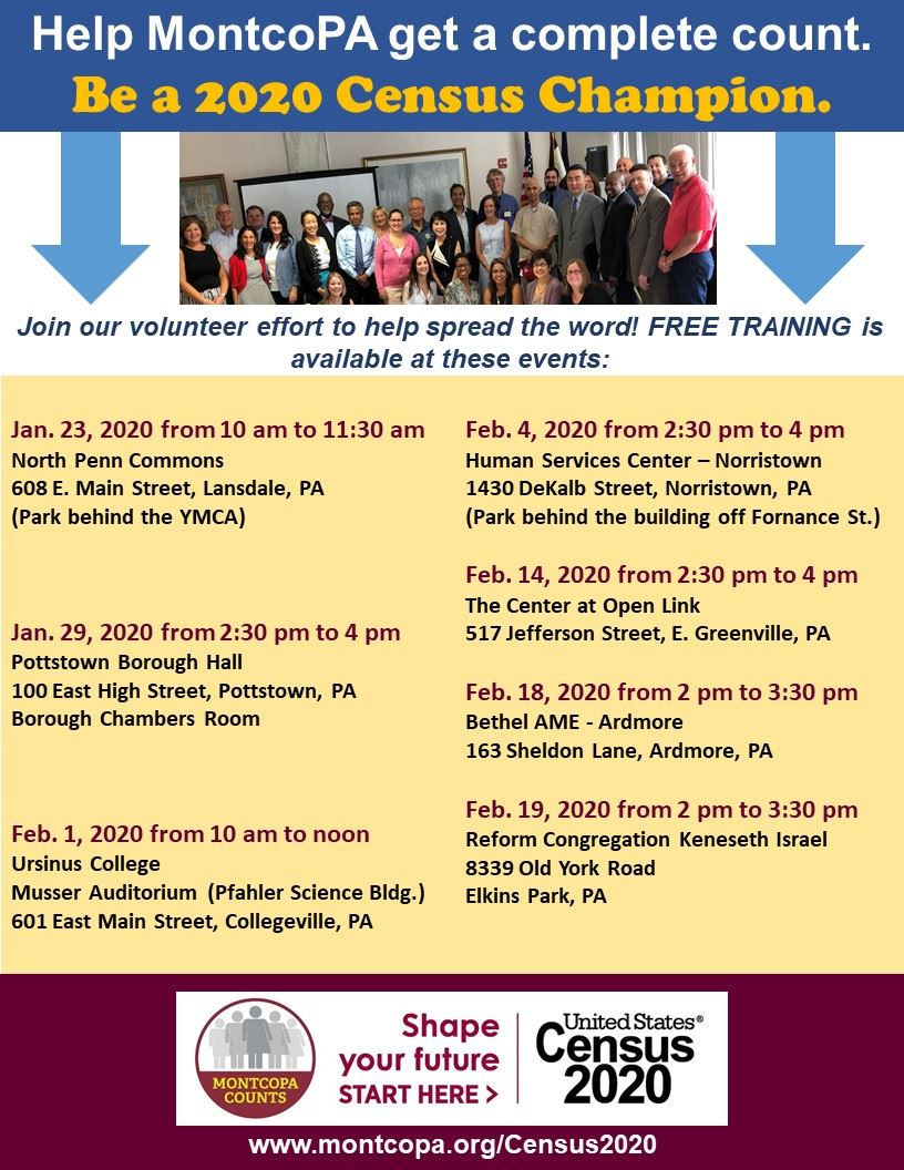 MontcoPA Counts Census 2020 CHAMPION TRAINING Jan Feb PPT upd 1.21.2020.pptx
