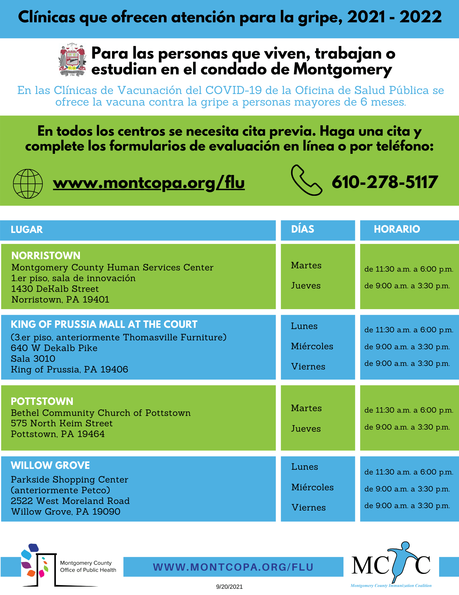 [Spanish] Flu Clinics - 2021